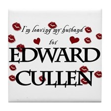 Leaving husband for Edward Tile Coaster