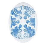 snowflake Oval Ornament