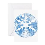 snowflake Greeting Cards (Pk of 10)