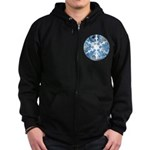 snowflake Zip Hoodie (dark)