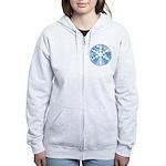 snowflake Women's Zip Hoodie