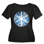 snowflake Women's Plus Size Scoop Neck Dark T-Shir