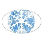 snowflake Oval Sticker (10 pk)