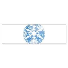 snowflake Bumper Bumper Sticker