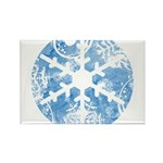 snowflake Rectangle Magnet (100 pack)