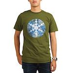 snowflake Organic Men's T-Shirt (dark)