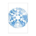snowflake Mini Poster Print