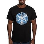 snowflake Men's Fitted T-Shirt (dark)