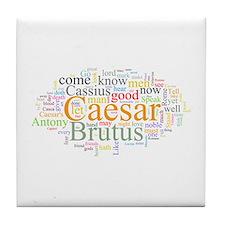 Julius Caesar Tile Coaster