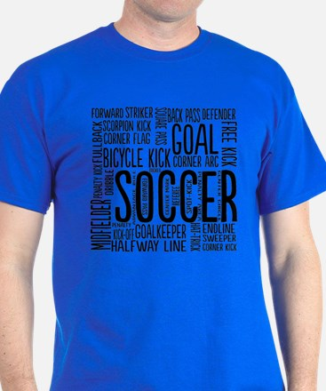 Soccer Word Cloud T-Shirt