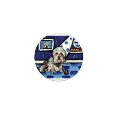 DANDIE DINMONT whimsical art Mini Button (100 pack