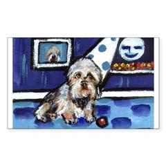DANDIE DINMONT whimsical art Rectangle Decal