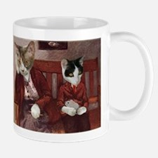 Cats on a Bench Mug