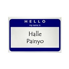 Halle Painyo Rectangle Magnet