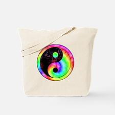 Rainbow Spiral Yin Yang Tote Bag