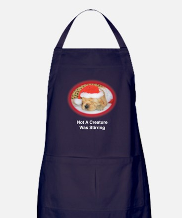 """""""Not A Creature Was Stirring"""" Christmas Apron (dar"""