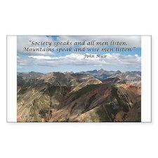 Mountains Speak Rectangle Decal