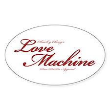 Love Machine Oval Decal