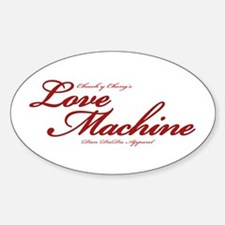 Love Machine Oval Decal