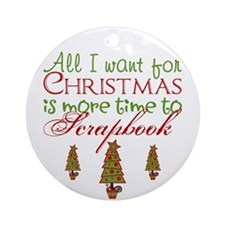 Time to Scrapbook Ornament (Round)