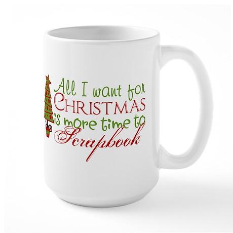 Time to Scrapbook Large Mug