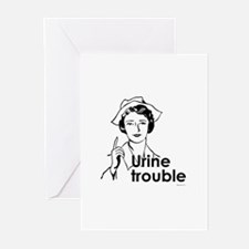 Urine Trouble ~ Greeting Cards (Pk of 10)