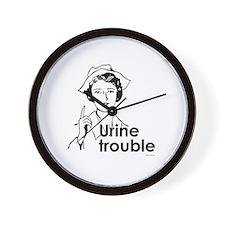Urine Trouble ~  Wall Clock