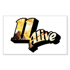 11 Alive Color: Rectangle Decal