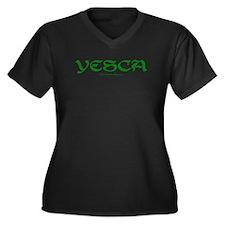 YESCA Women's Plus Size V-Neck Dark T-Shirt