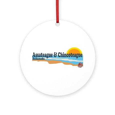 Assateague & Chincoteague Islands Ornament (Round)