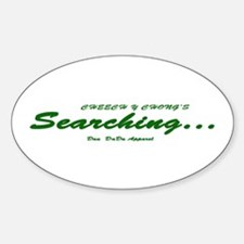 Searching... Oval Decal