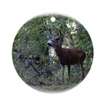 Buck and Doe Ornament (Round)