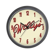 Willys Script Wall Clock
