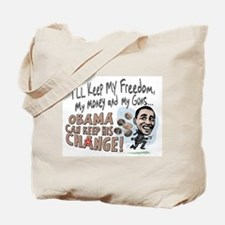 Obama Keep Your Change Tote Bag