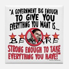 Big Government Anti Obama Tile Coaster