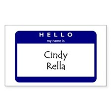 Cindy Rella Rectangle Decal