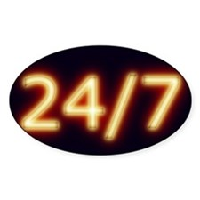 24/7 Oval Decal