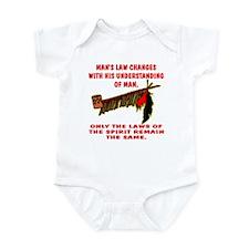 Man's Law or Spirit Law Infant Bodysuit