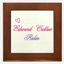 Edward Cullen Rules Framed Tile