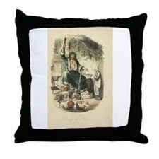Scrooge's Third Visitor Throw Pillow