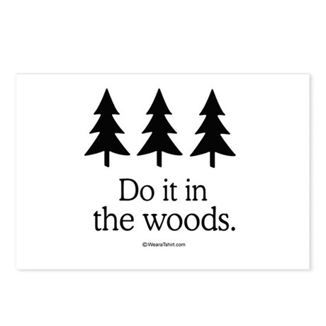 Do it in the woods - Postcards (Package of 8)