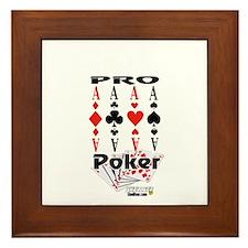 Poker Pro Framed Tile