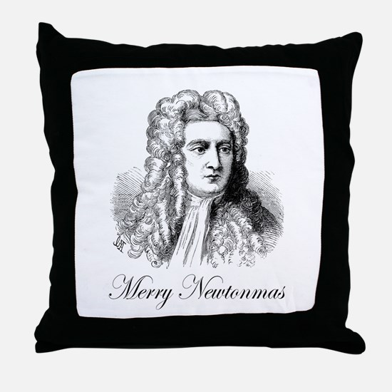 Merry Newtonmas Throw Pillow