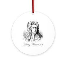 Merry Newtonmas Ornament (Round)