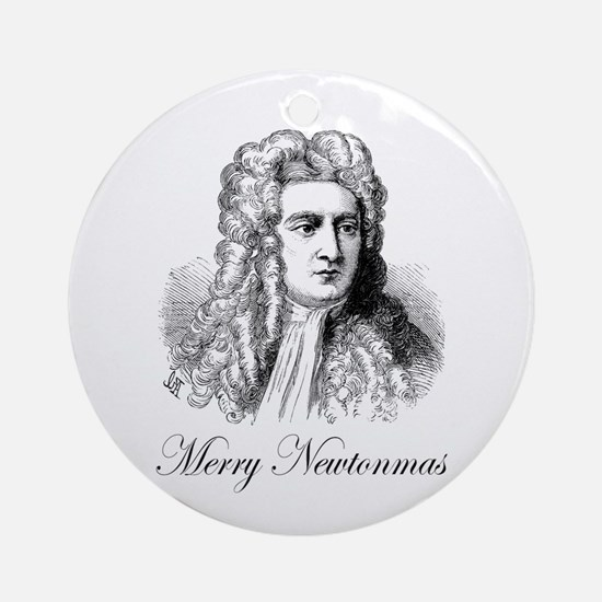 Merry Newtonmas Ornament (Round)