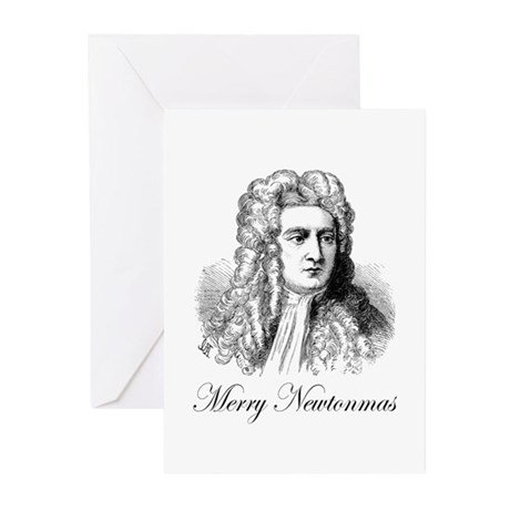 Merry Newtonmas Greeting Cards (Pk of 20)