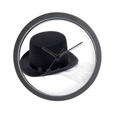 Top hat and gloves Wall Clock