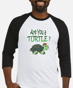 turtle w/back design Baseball Jersey