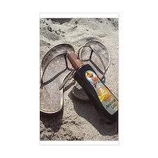 Flip Flop Beach Rectangle Decal