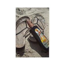 Flip Flop Beach Rectangle Magnet